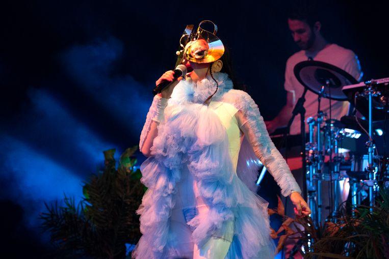 Björk in vol ornaat. Beeld RV