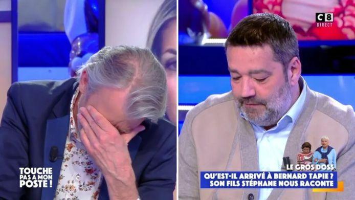 Gilles Verdez n'a pas pu retenir ses larmes en apprenant les détails du cambriolage dont ont été victimes Bernard Tapie et son épouse Dominique.