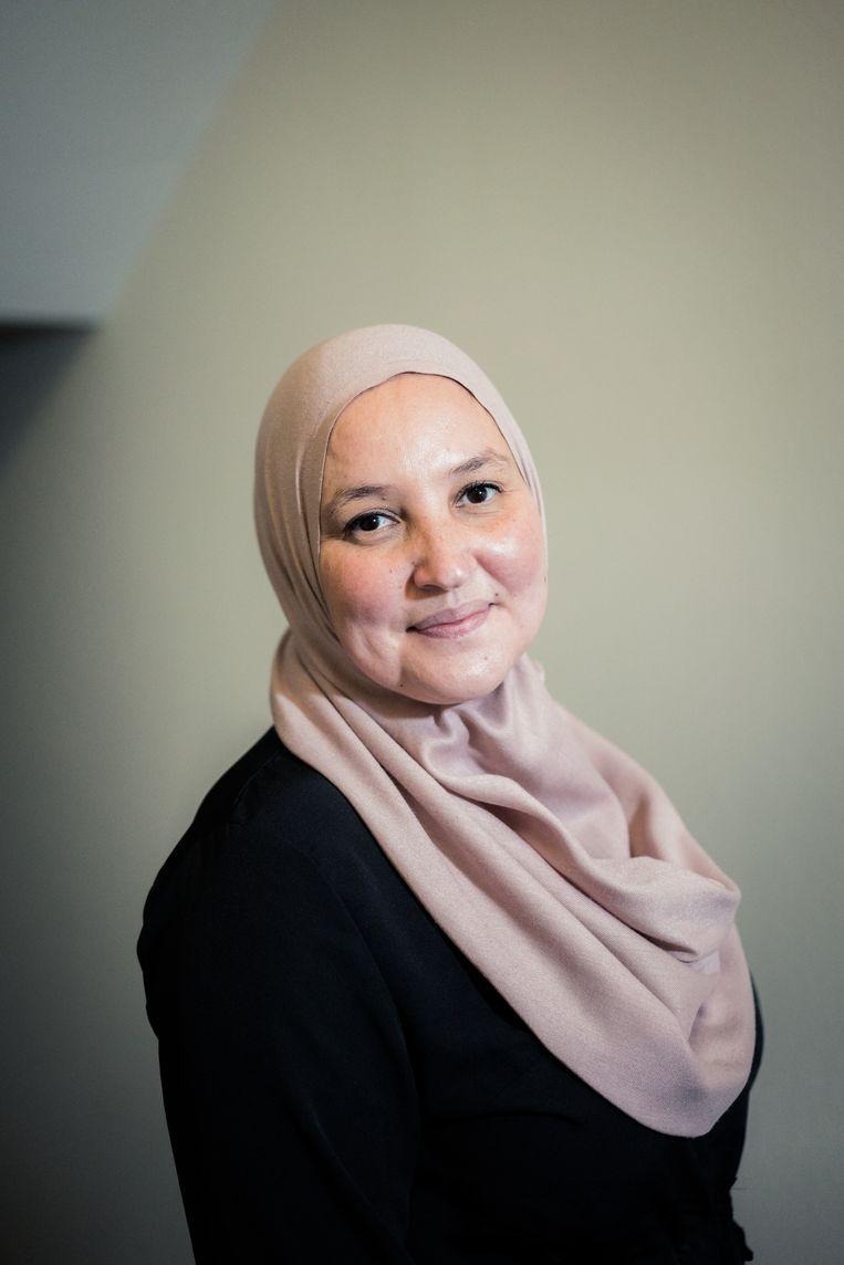 Malika Razzouki: 'Ik geef het ook mee aan mijn kinderen: wie goed doet, zal goed ontmoeten.' Beeld Wouter Van Vaerenbergh HUMO 2020