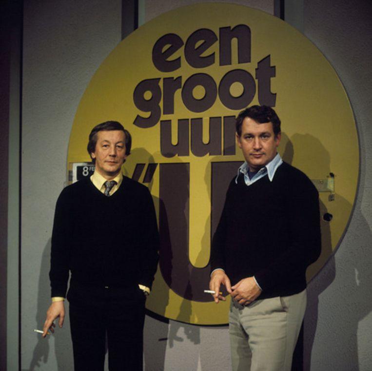 Koos Postema (R) en Joop Koopman in 1977. © ANP Beeld