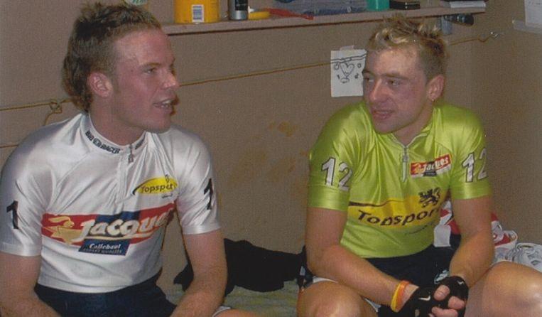 Iljo Keisse (links) en Dimitri De Fauw (rechts) Beeld VRT