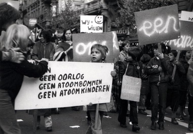 De antirakettenbetoging op 23 oktober 1983. Beeld Studio Alijn