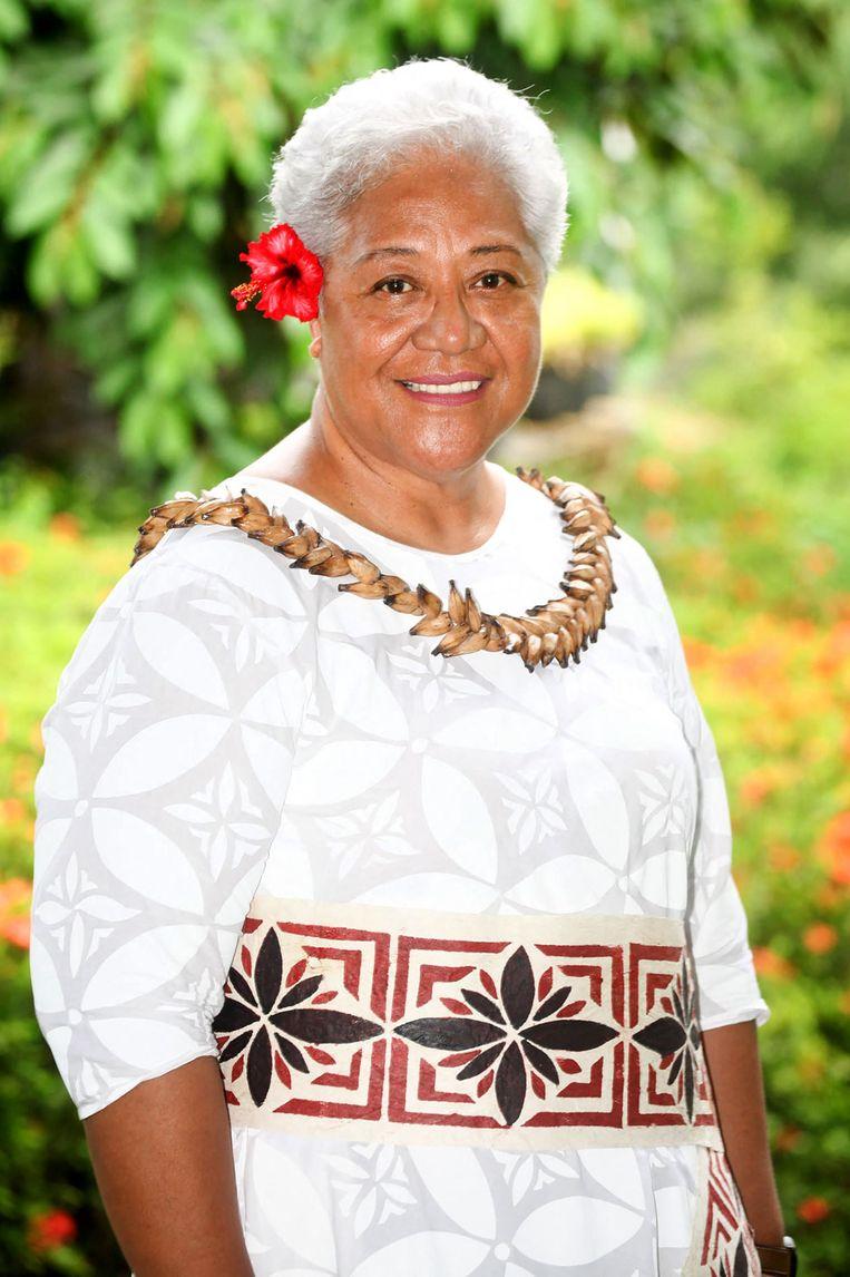 Premier Fiame Naomi Mata'afa van Samoa.  Beeld AFP