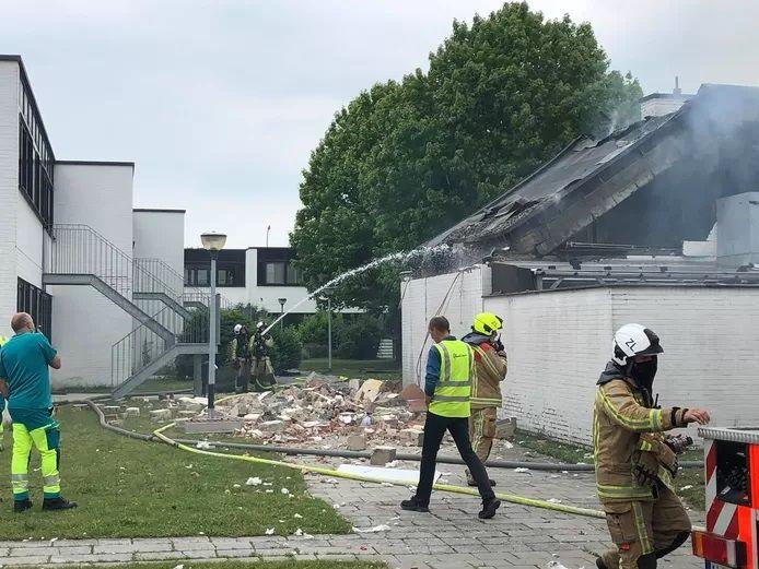 Explosion d'une maison à Zele en Flandre orientale.