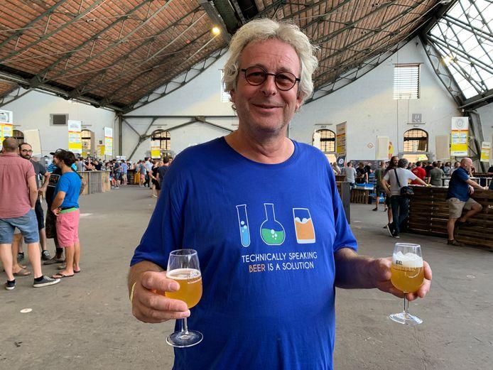 Een echte biergeek (Peter Mathijs) gespot uit Leuven.