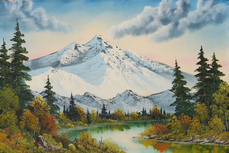 Bob Ross, Mountain Summit (ca. 1987). Beeld Bob Ross Inc.