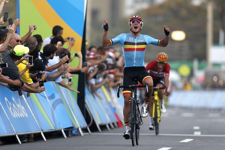 Van Avermaet kroonde zich in Rio tot olympisch kampioen. Beeld AFP