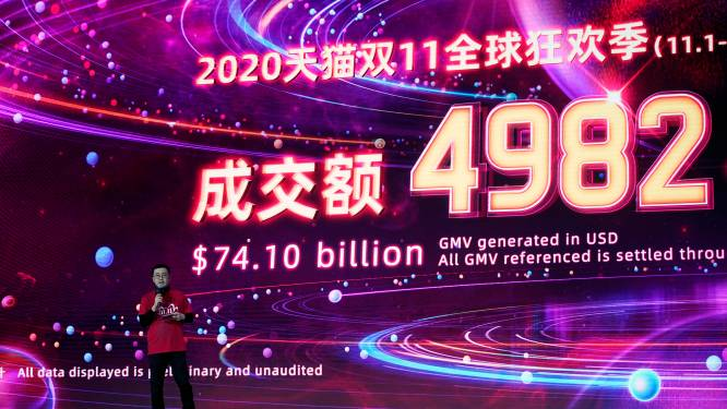 Kassa voor Alibaba: 65 miljard omzet tijdens Singles Day