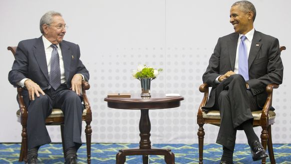 De Cubaanse president Raul Castro en de Amerikaanse president Barack Obama.