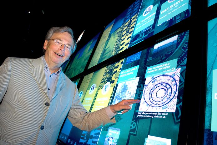 Willem Bijleveld in zijn tijd als directeur van het Nederlands Openluchtmuseum bij de Canon van Nederland.