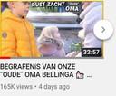 De aankondiging van de Bellinga's van hun vlog over de begrafenis van hun oma.