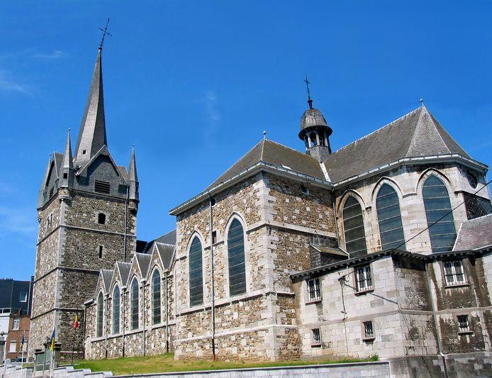 """L'église Saint-Jean-Baptiste de Herve sur laquelle le spectacle """"Aile Émoi"""" sera donné."""