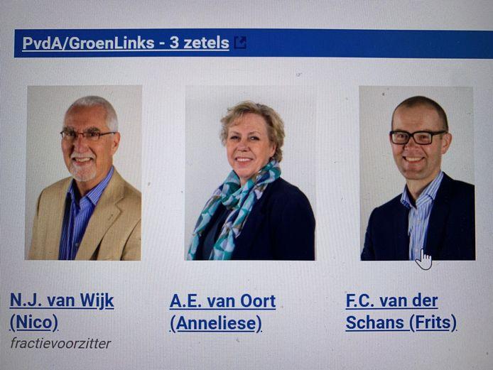 De fractie van PvdA/GroenLinks staat nu nog samen op de website van de gemeente Zaltbommel, maar dat gaat veranderen. Nico van Wijk en Anneliese van Oort zijn uit de fractie gestapt en gaan samen verder.