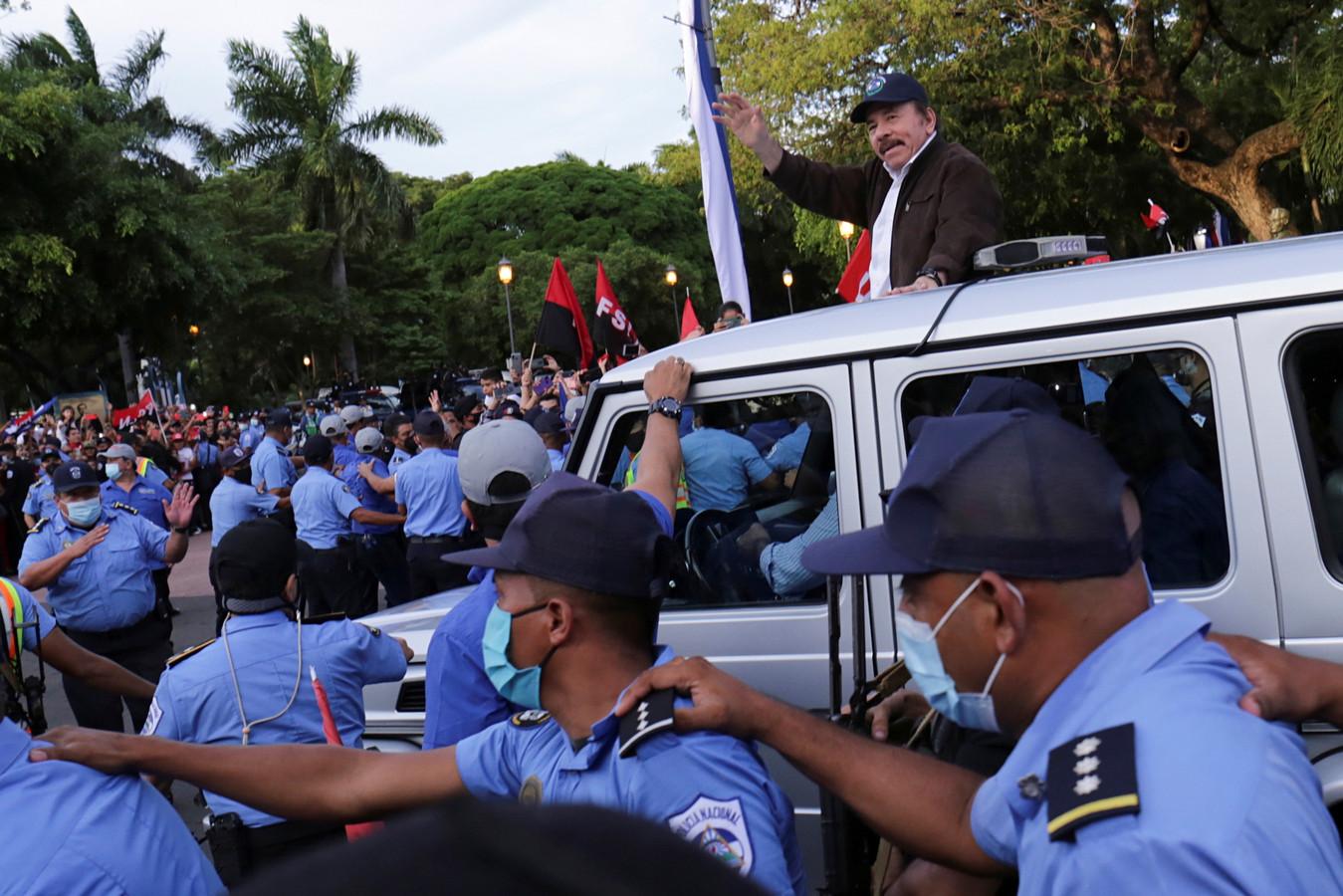 De president van Nicaragua, Daniel Ortega.