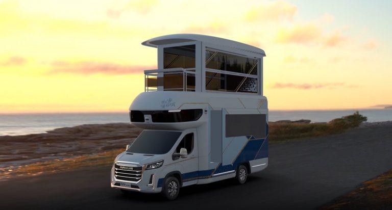 De Saic Maxus Life Home V90 Villa Edition (beeld uit de computeranimatie).
