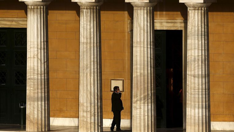 Het Griekse parlement in Athene. Beeld reuters