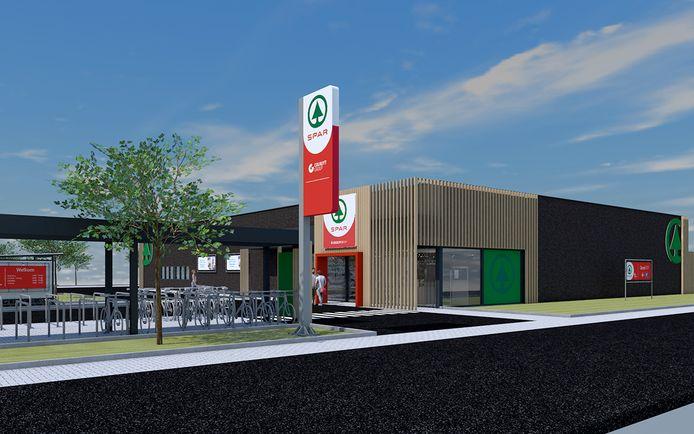 Zo moet de nieuwe winkel op Heikant eruit gaan zien.