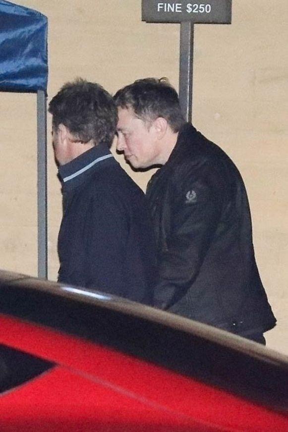 Elon Musk met acteur Edward Norton.