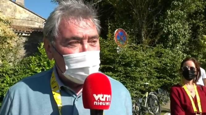 """Eddy Merckx volgde Wouts knaltijdrit op de voet: """"Hij is een groot kanshebber op dubbel goud in Tokio"""""""