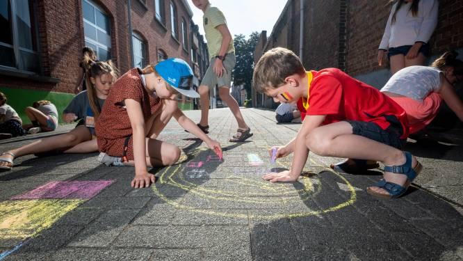 Uitstel is geen afstel: OLVP-school viert 'Gekke Week' met muziek, spelletjes en stoepkrijt