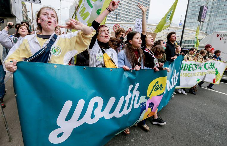 Youth for Climate op één van de protesten voor het klimaat. Beeld EPA