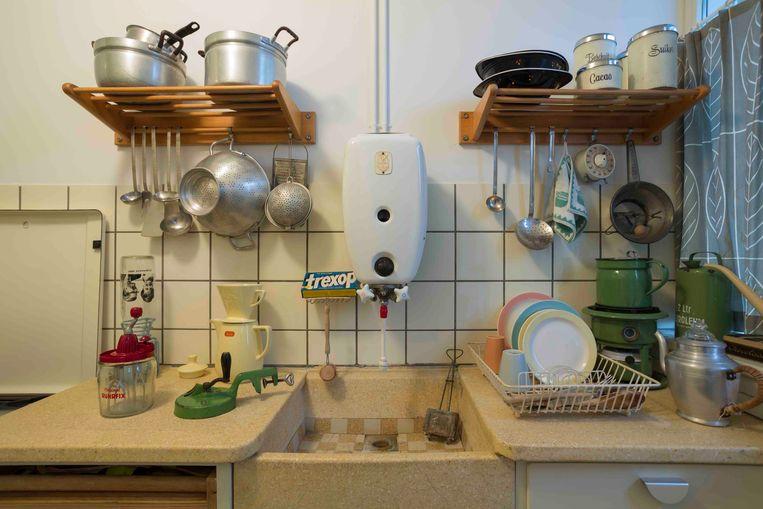 De keuken van de Van Eesteren-museumwoning. Beeld Adelheid Vermaat
