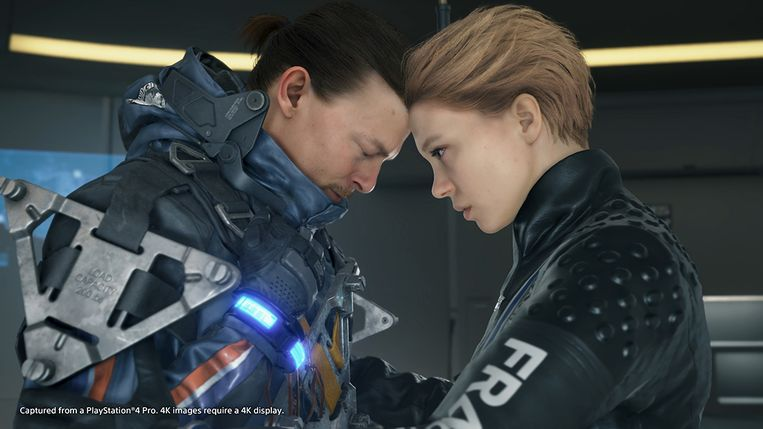 Norman Reedus en Léa Seydoux in 'Death Stranding'. Beeld Sony PlayStation