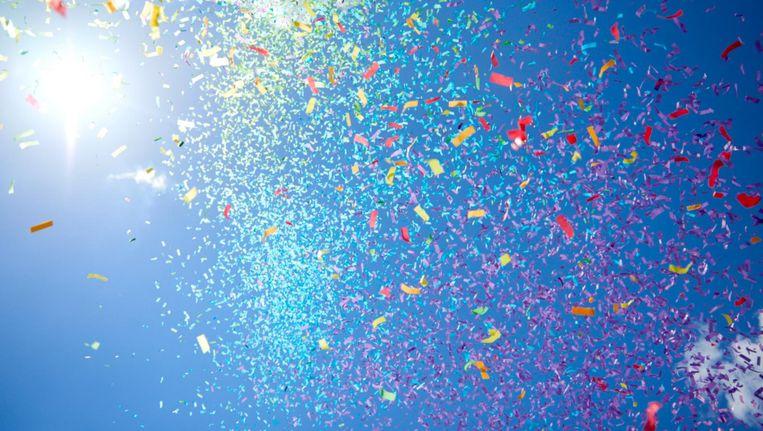 Laat de regenboogconfetti maar vallen. Beeld Shutterstock