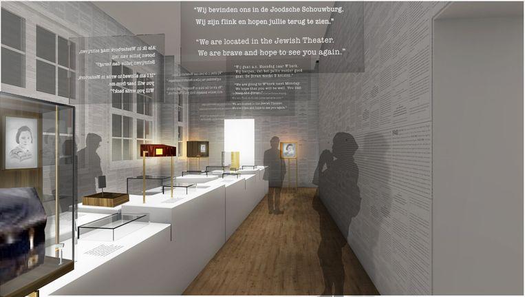 Ontwerpschets 2 Nationaal Holocaustmuseum - beeld Opera Amsterdam en Studio Louter, Nationaal Holocaustmuseum. Beeld Opera Amsterdam en Studio Louter, Nationaal Holocaustmuseum.