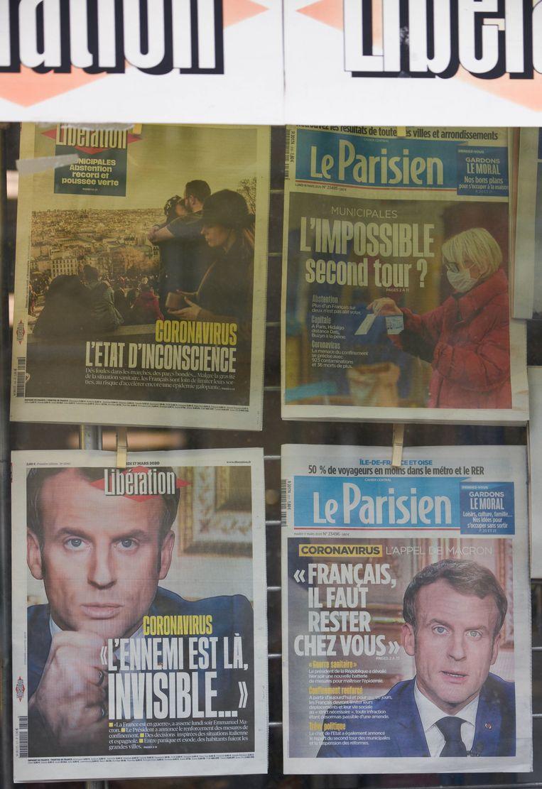 Frans president Macron sprak eergisteren in zijn toespraak over