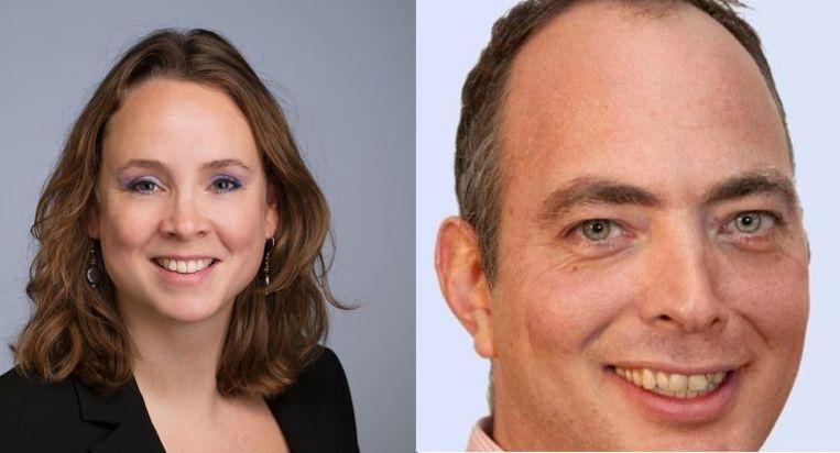 Ex-wethouder Judith de Jong en PvdA-fractieleider Jeroen van der Veer. Beeld rv