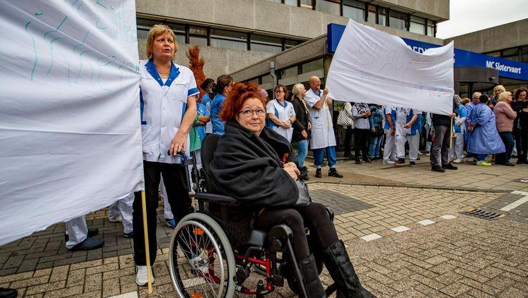 Medewerkers van het Medisch Centrum Slotervaart voerden donderdag actie tegen Beeld ANP