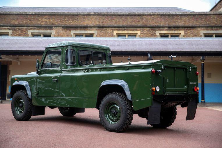 De Land Rover die de hertog van Edinburgh zelf ontwierp. Beeld AP