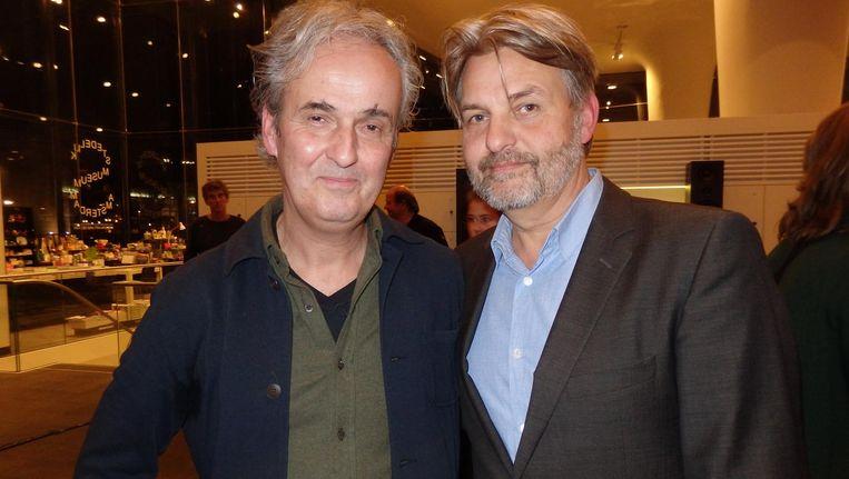 Nieuw in de ADCN Hall of Fame: designers Jacques Koeweiden (l) en Paul Postma: 'Dit voelt als een eindecarrière- of bijnadoodmoment.' Beeld Schuim