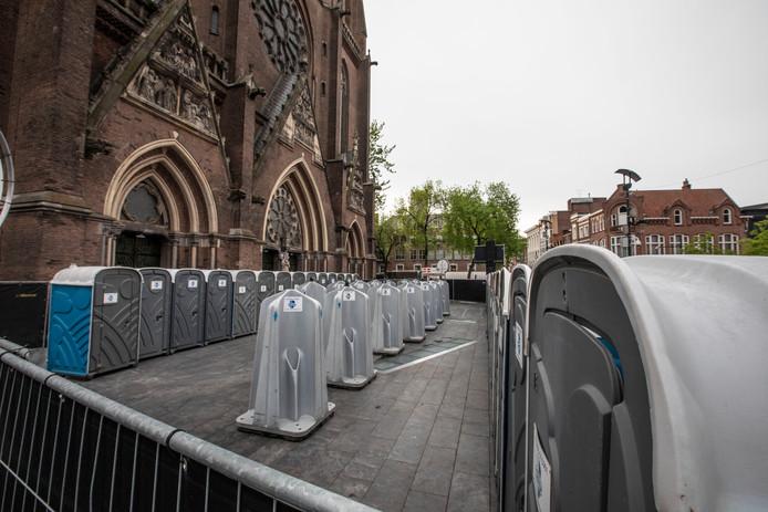 Dixiedorp op terras van de Catharinakerk in Eindhoven