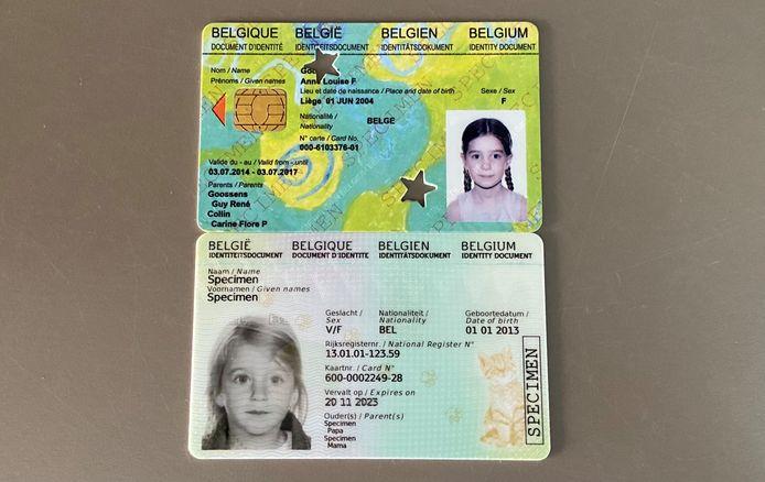 De oude Kids-ID (boven) en de vernieuwde Kids-ID (onder)
