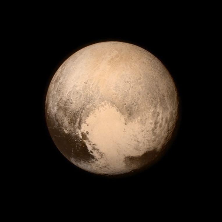 New Horizons schoot in 2015 unieke beelden van Pluto. Beeld AP