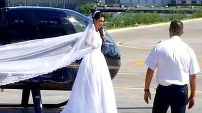 Bruid sterft in helikopter op weg naar altaar