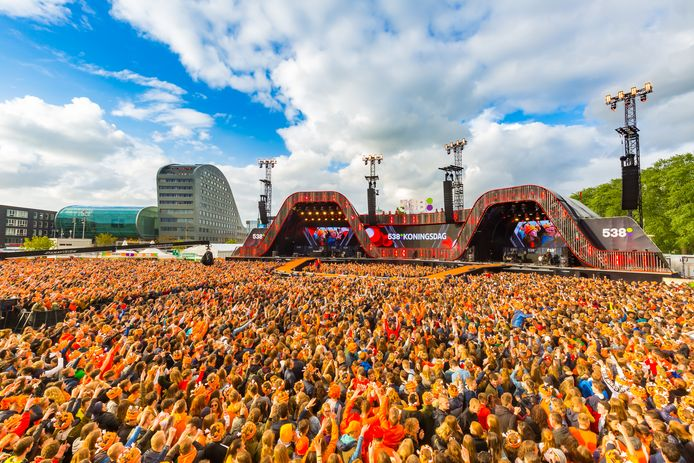 Het Chasséveld kleurde in 2019 oranje tijdens 538Koningsdag.