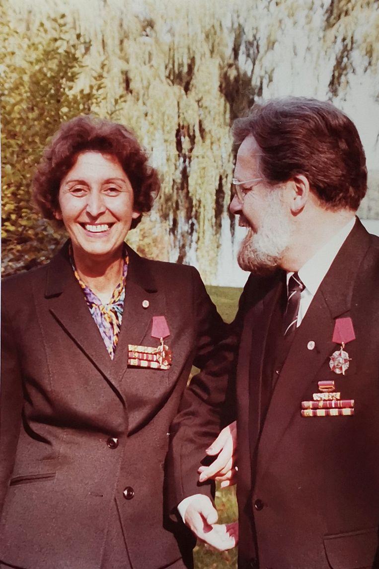 Na hun vrijlating werden de ouders van Pierre als helden onthaald in de DDR.  Beeld Privé-archief Pierre Boom