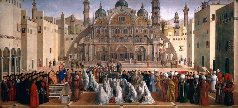 Sint Marcus prekend in Alexandrië Beeld Collectie Pinacoteca di Brera Milaan