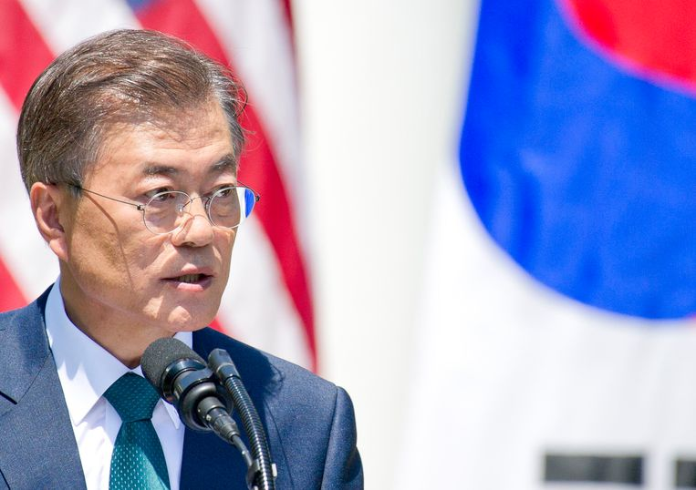 President Moon Jae-in of South Korea has been firm in his opposition to nuclear weapons. But his is increasingly a minority view. Beeld Photo News
