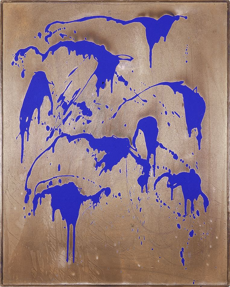 Untitled Color Fire Painting, Yves Klein, 1962 Beeld rv Bozar
