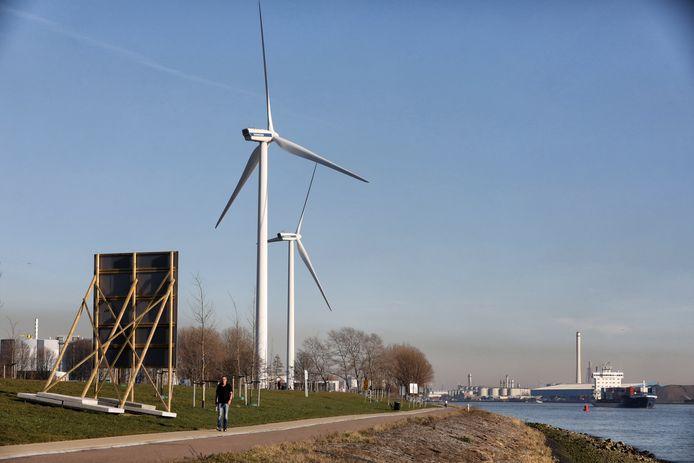 Langs Het Scheur staan al twee windturbines.