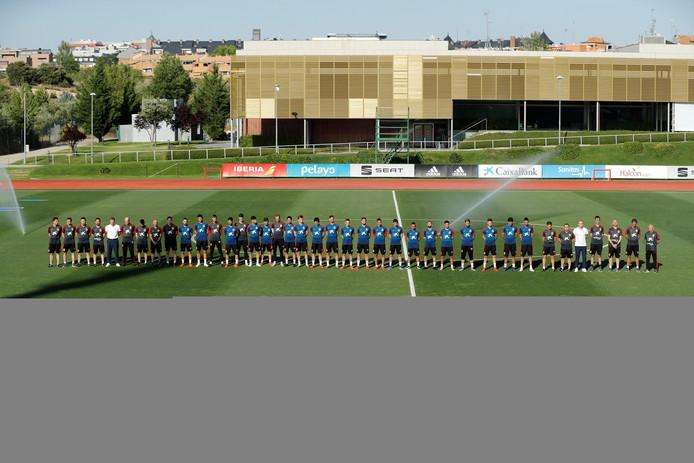 Een minuut stilte bij het trainingskamp van de nationale ploeg.