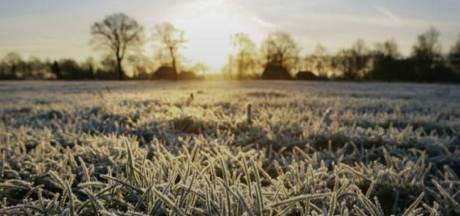 Dinsdag was het nog 35 graden, vannacht vroor het -1,3 graden in Twente