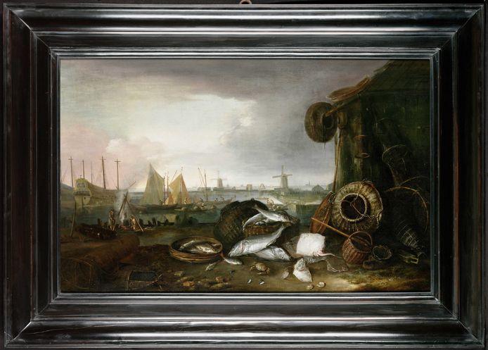 Schilderij van Matthias Withoos (1621/7 - 1703), Grashaven Hoorn.