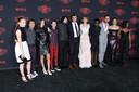 De Stranger Things cast: Sadie Sink, Gaten Matarazzo, Millie Bobby Brown, Noah Schnapp, Finn Wolfhard, Joe Keery, Natalia Dye
