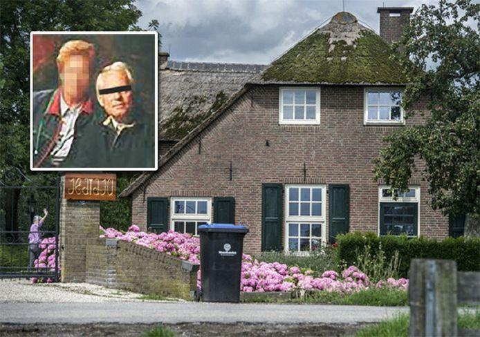 Archiefbeeld van de destijds in Meerkerk gevestigde Hoeve Jedidja.  Inzetje: Aaldert van E. (rechts).