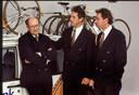 Jan Raas (links) met Adrie van Houwelingen en Theo de Rooy.